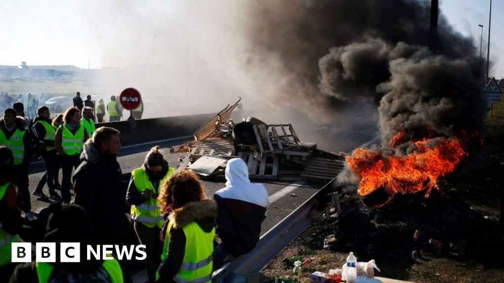 Euro falls as 'gilets jaunes' protests hit French economy