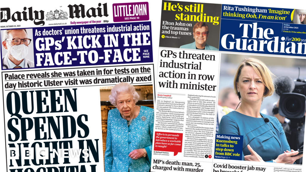The Papers: 'Royal health concern' and GP appointment 'row' thumbnail