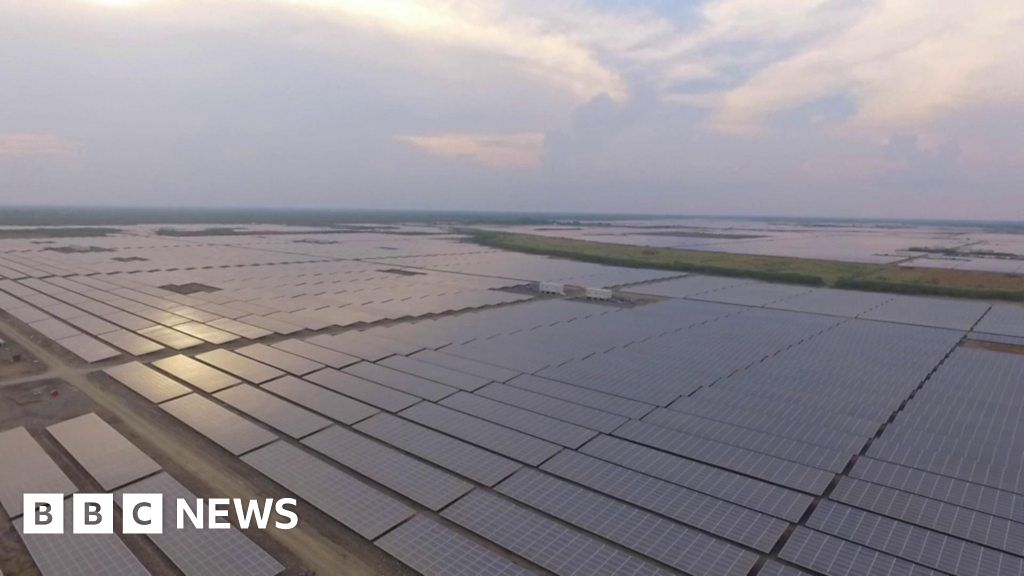 The world's largest solar power project