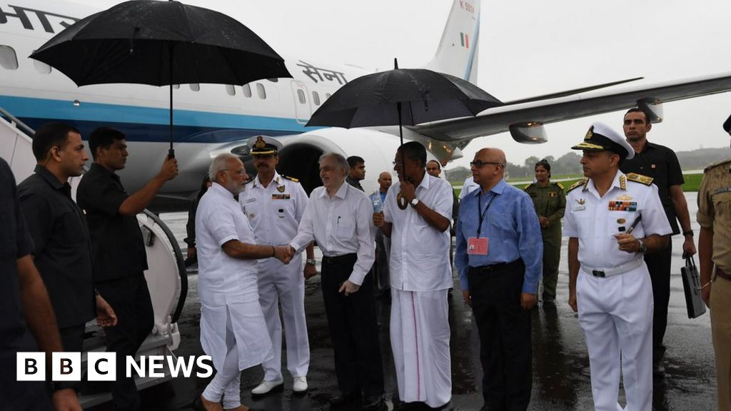 India's PM to see flood-ravaged Kerala thumbnail