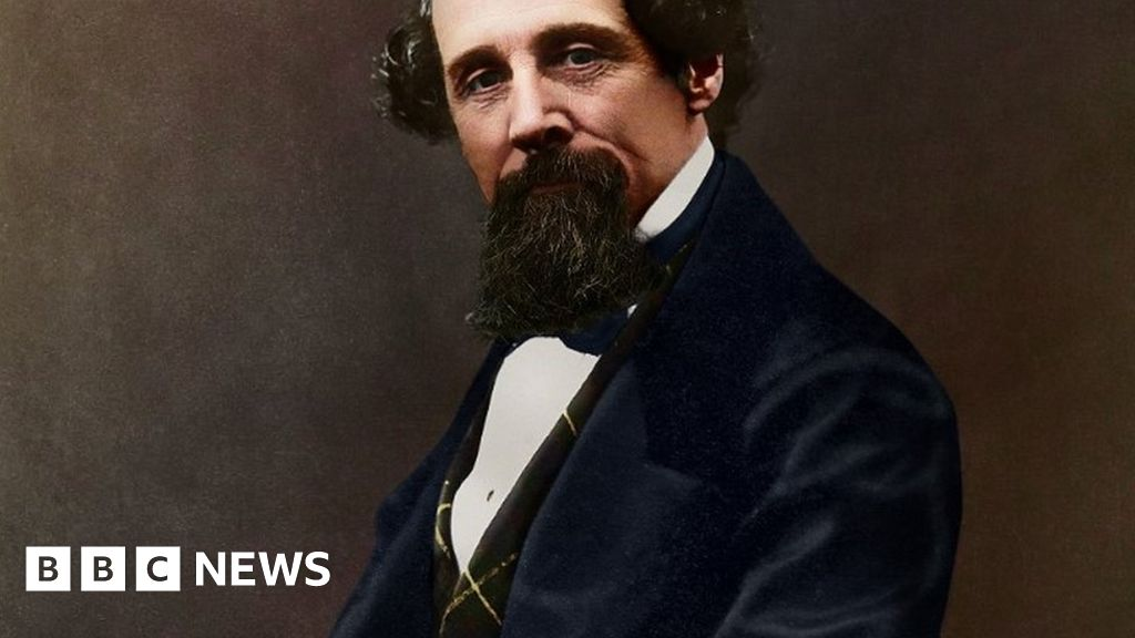 Charles Dickens: a Black-and-white photos author often brightly coloured