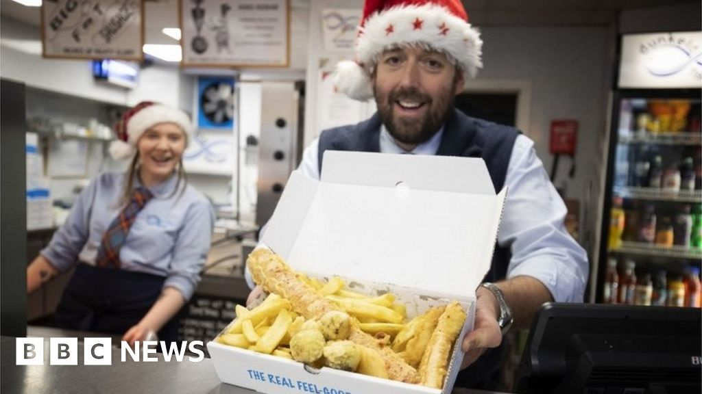 Chippy offers deep-fried Christmas dinner