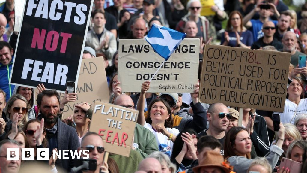 Anti-lockdown protest as Scotland Covid cases rise