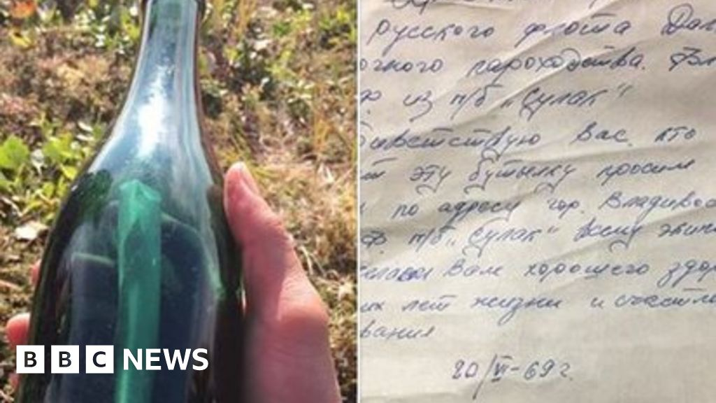 Russian's 1969 message in a bottle found in Alaska thumbnail