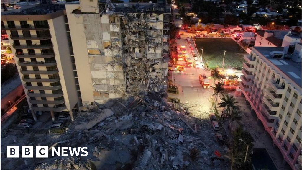 Miami building collapse: Rescuers listen for signs of life in rubble – BBC News