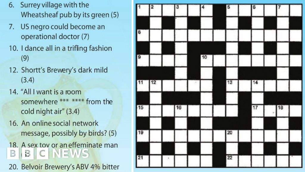 Camra Apologise For Offensive Crossword In Magazine Bbc News