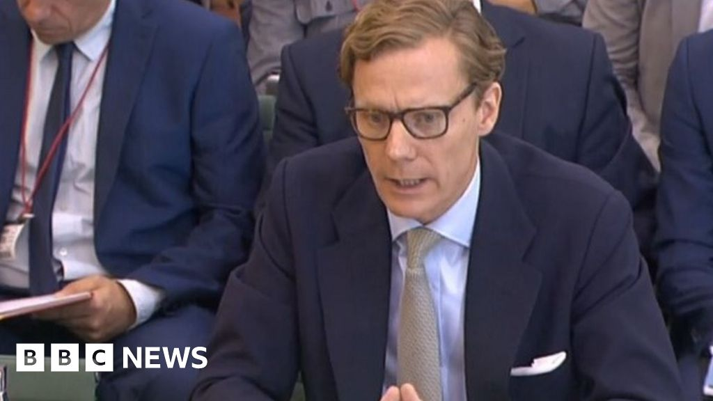 Cambridge Analytica boss spars with MPs