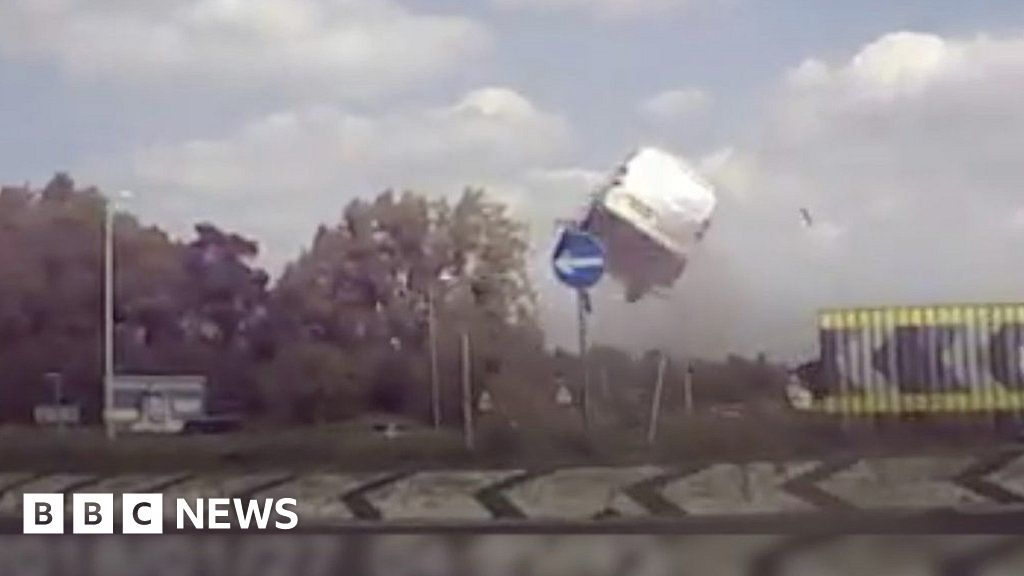 Ban for teenage 'flying van' driver