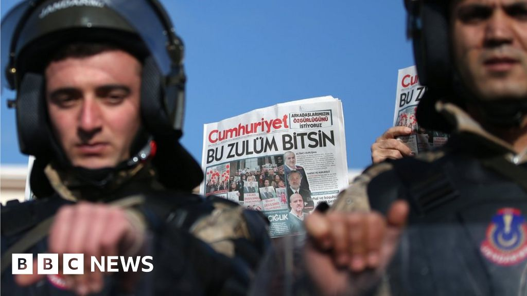 Turkey Cumhuriyet trial: Two journalists released on bail