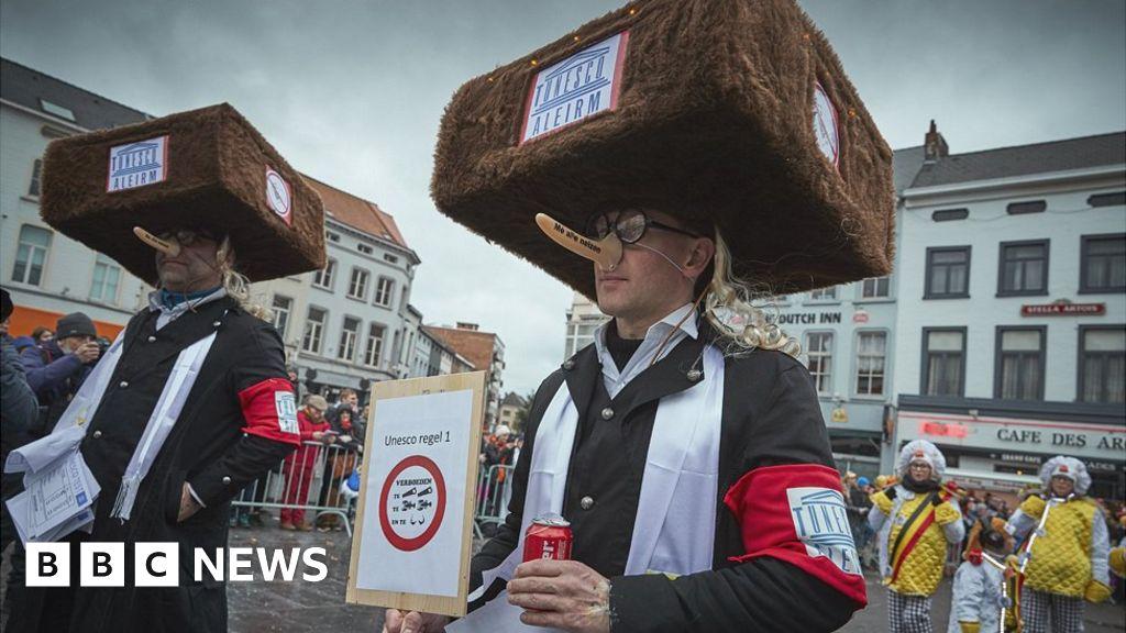 Belgian city says anti-Semitic parade 'just fun'