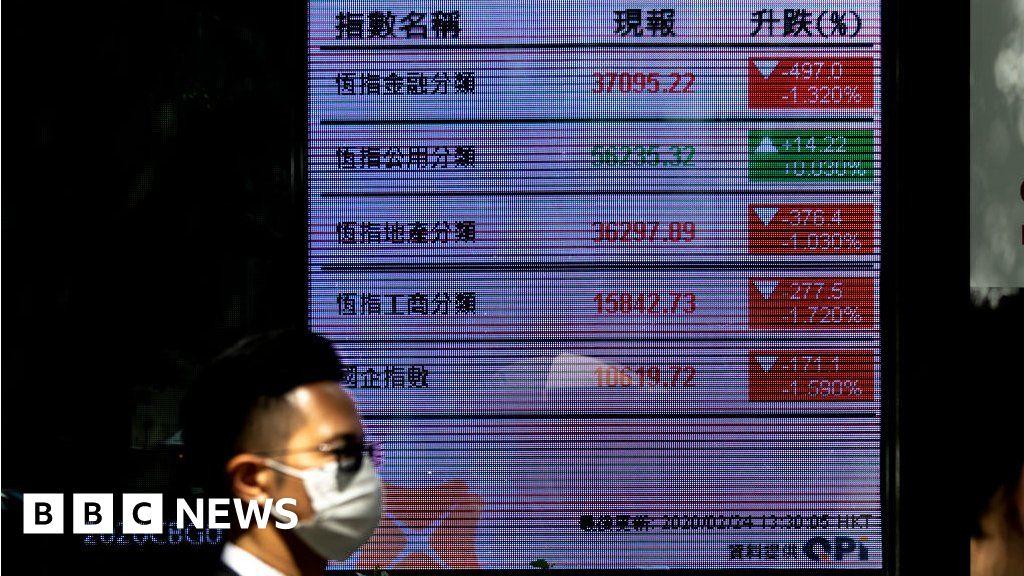 Shares slide as a coronavirus raises fear of recession