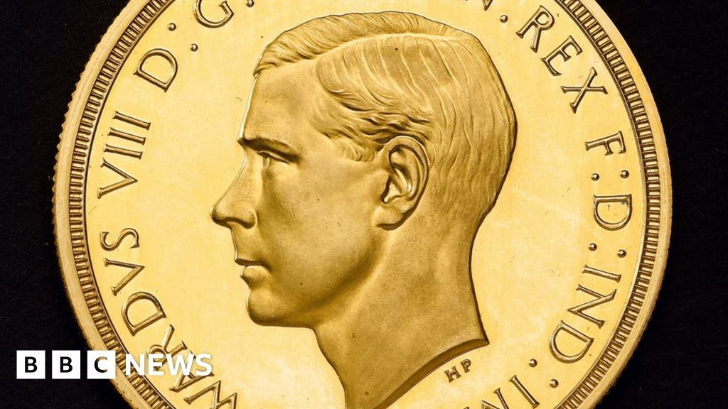 Extremely rare' King Edward VIII coin goes on display - BBC News