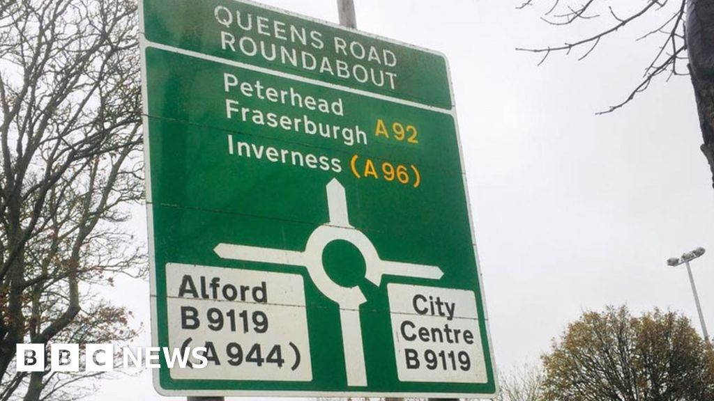 Aberdeen road signs being replaced for £475,000 due to bypass