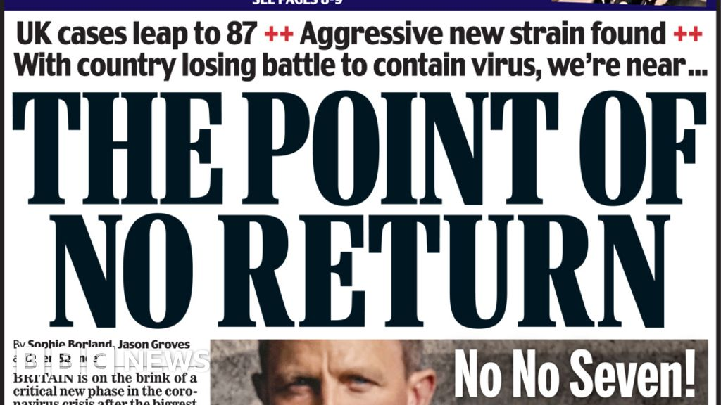 Newspaper headlines: Fears for MPs as UK nears 'point of no return'