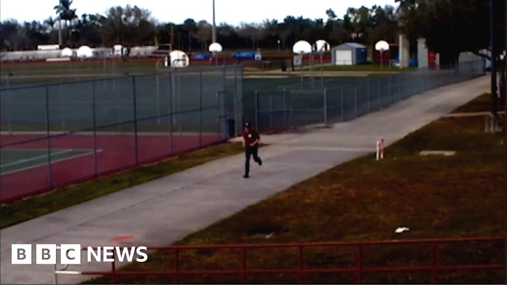 CCTV footage released of Parkland gunman
