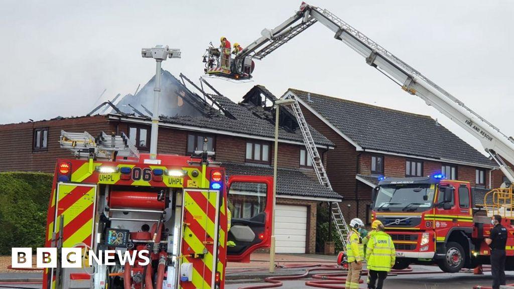 Storm warning as lightning strike damages homes