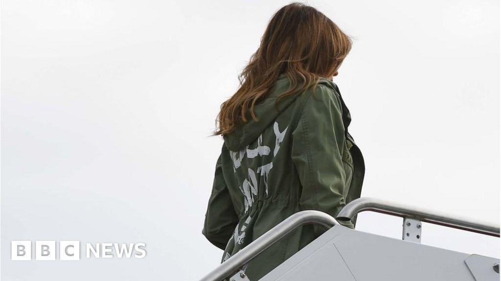 Melania wears 'I don't really care' coat