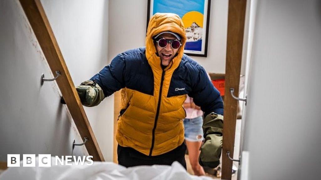 Coronavirus: Paralysed Ed Jackson reaches Everest staircase feat
