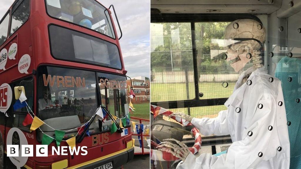 Double-decker bus turned into Wellingborough school science