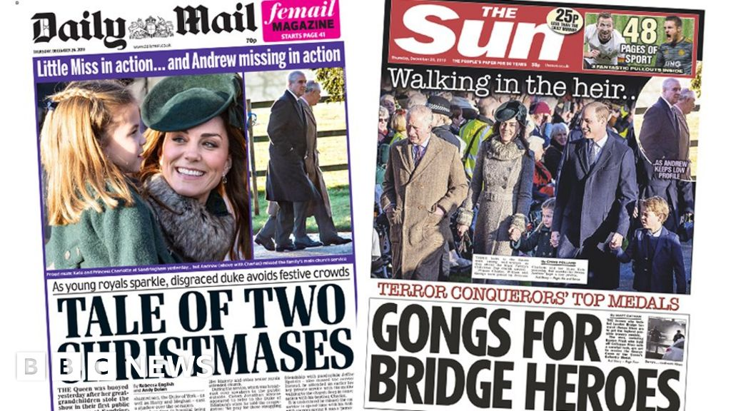 The Papers: Queen s  two Christmases  and bridge hero awards