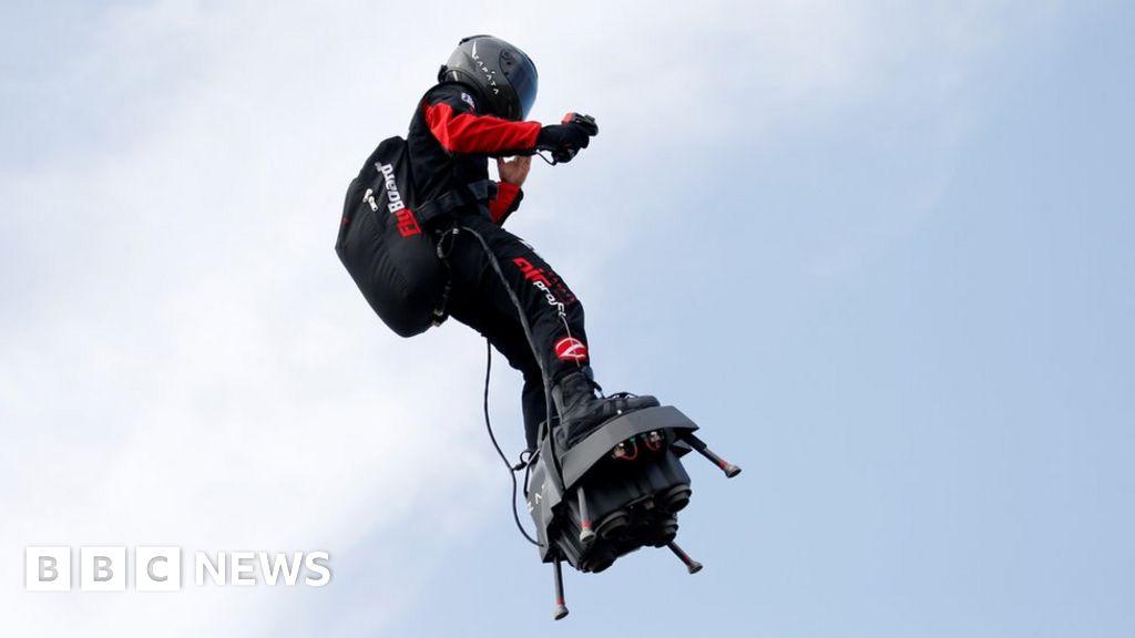Flyboard man attempts Channel crossing