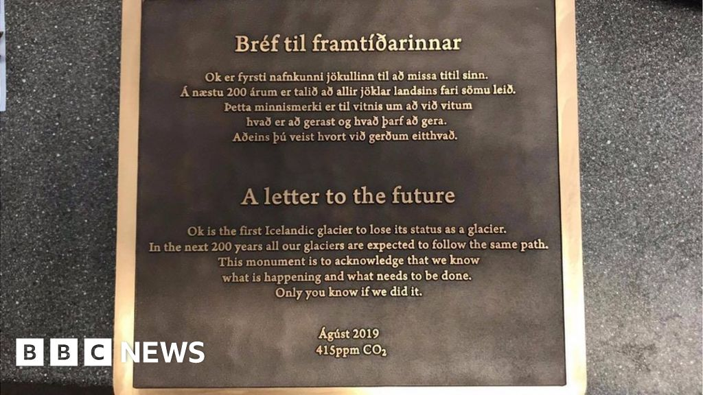 Icelands Okjokull Glacier Commemorated With Plaque Bbc News