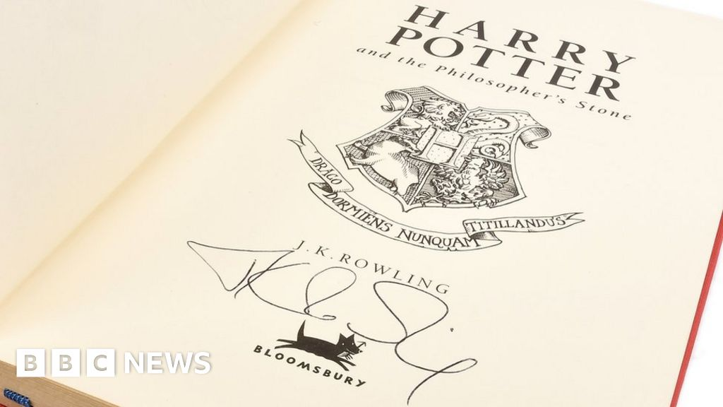 harry potter auction how much are signed books worth bbc news. Black Bedroom Furniture Sets. Home Design Ideas