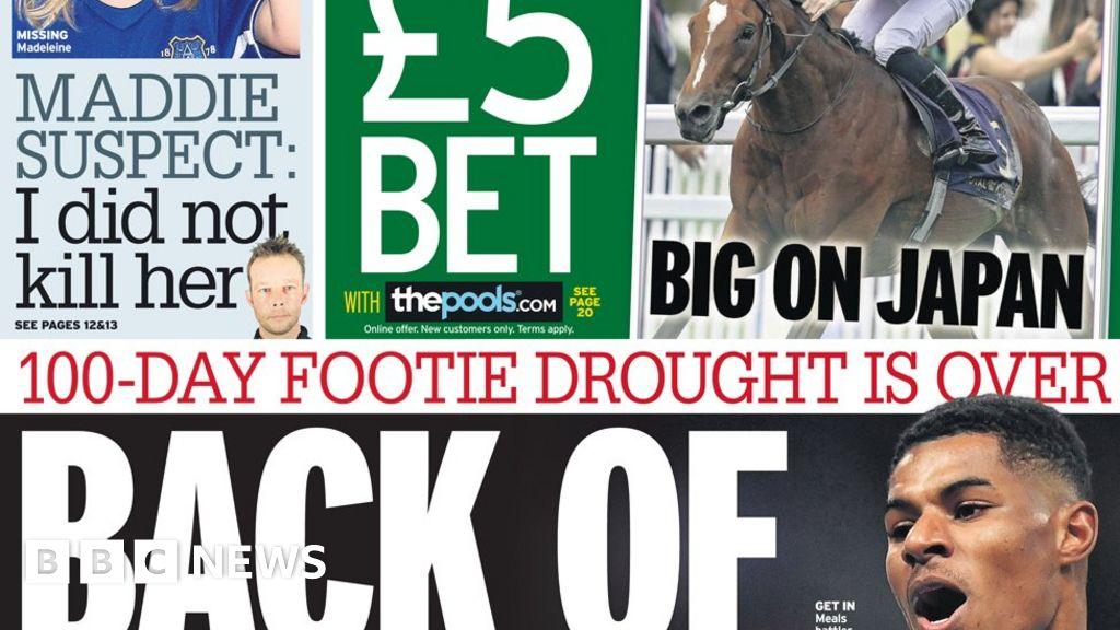 "Headlines: Win for  hero  Rashford as ""footie drought  ends"