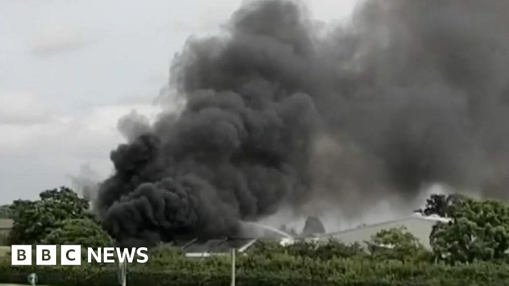 Large fire breaks out at engineering site
