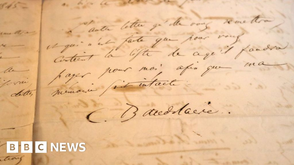 Baudelaire suicide letter sold at auction