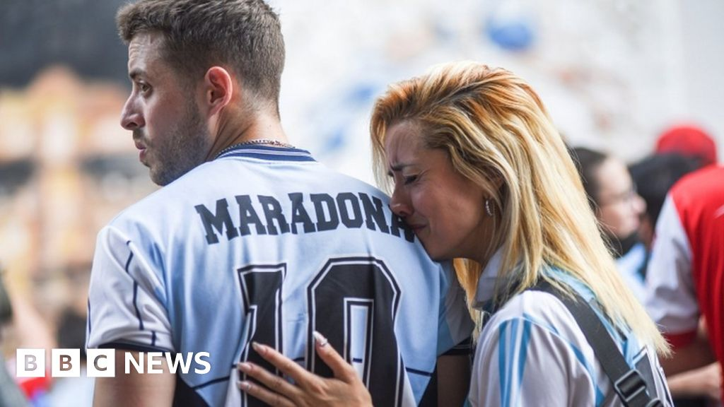 Diego Maradona: Mourners to visit legend's body as Argentina grieves