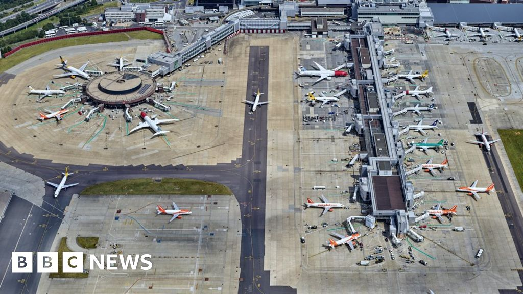Gatwick drones: Drone in 'high risk' near miss with Airbus plane