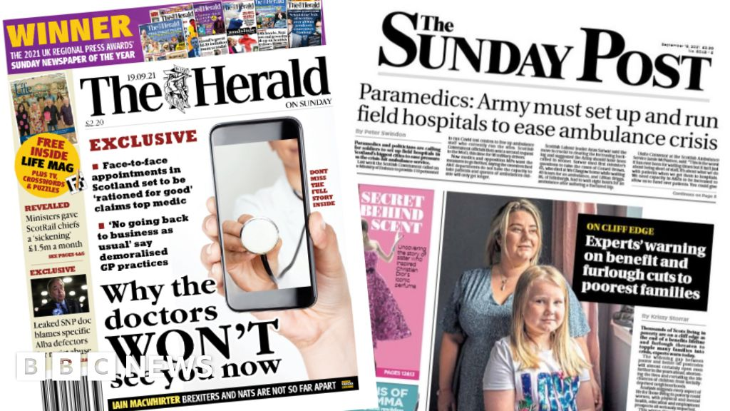 Scotland's papers: GPs and ambulance feel health service pressure