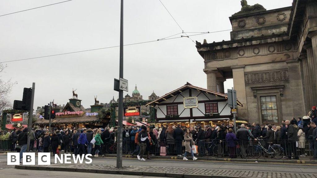 Edinburgh's Christmas: Market opens despite last-minute snags
