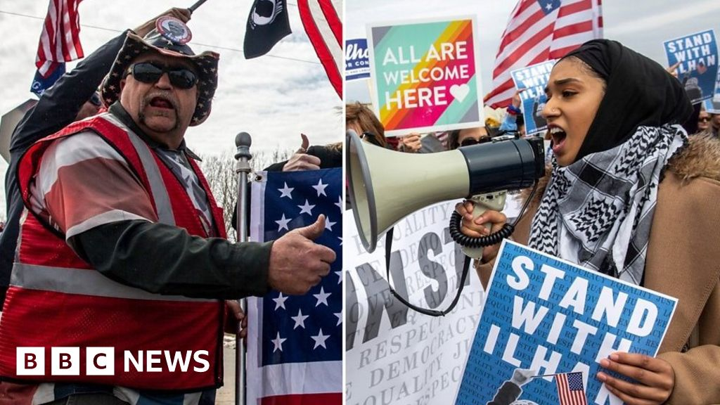ilhan omar  rival rallies for trump and congresswoman