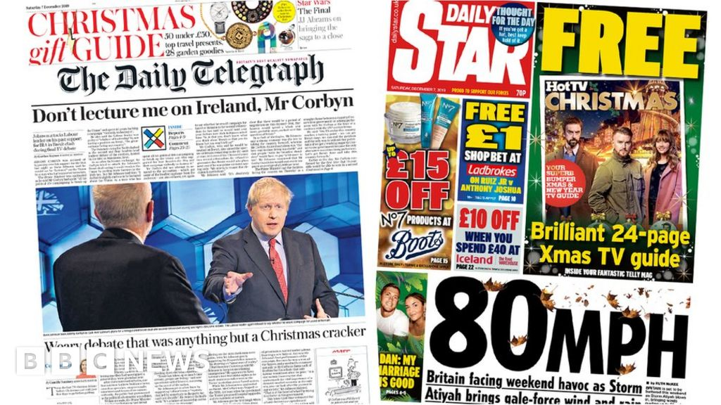 The Papers:  Weary TV debate  and  weekend storm havoc