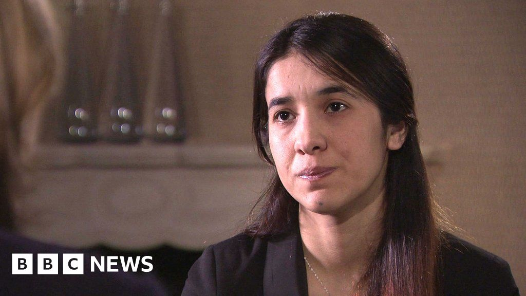 WATCH: Nadia Murad was held captive as a sex slave by so called Islamic  State - she tells the BBC's HardTalk how she escaped