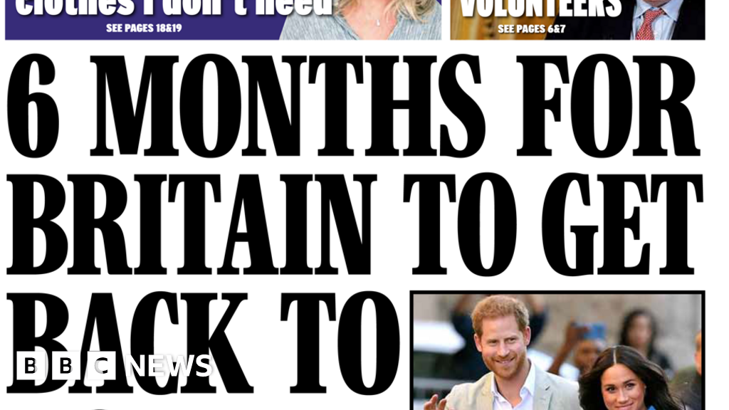 The Papers: 'Normal life' six months away and NHS 'hero' dies