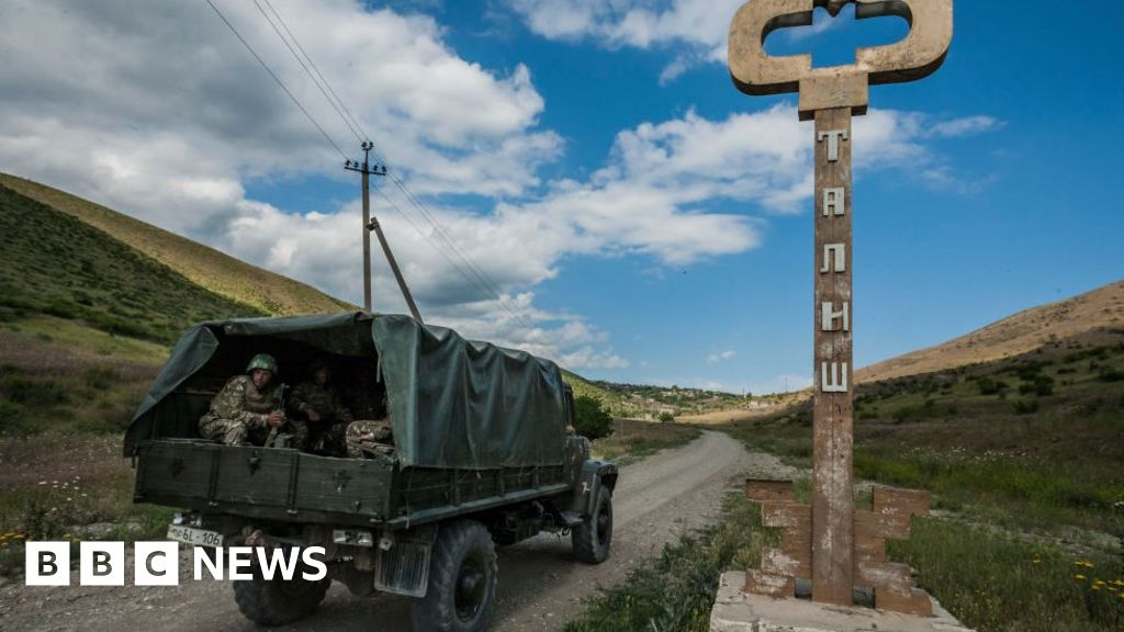Azerbaijan and Armenia clash over disputed Nagorno-Karabakh region 56