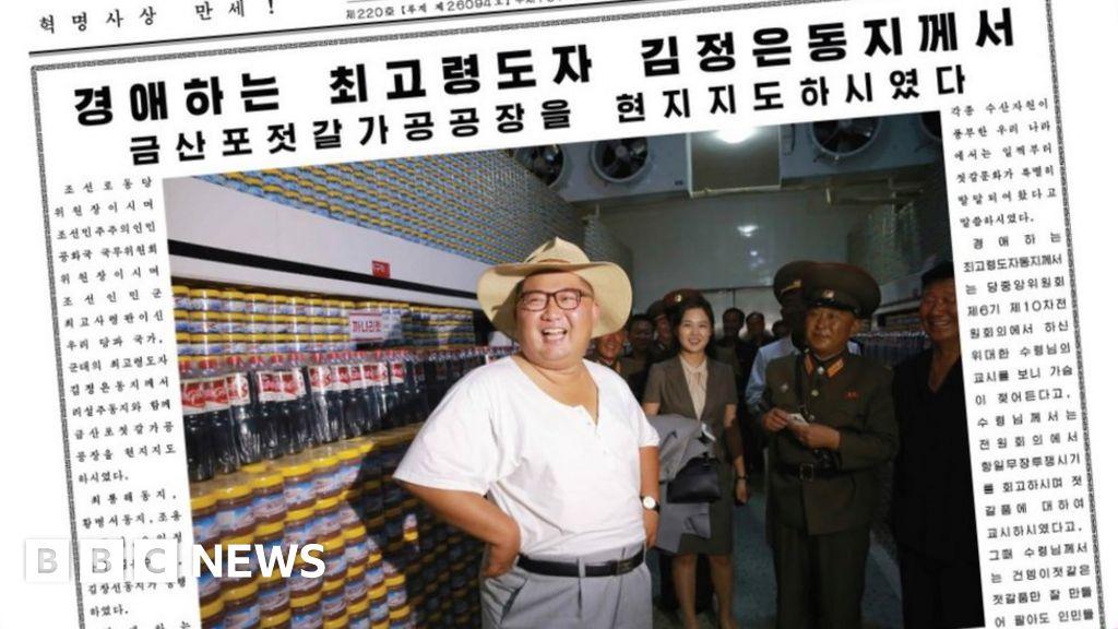 North Korea heatwave: Kim Jong-un strips to his vest