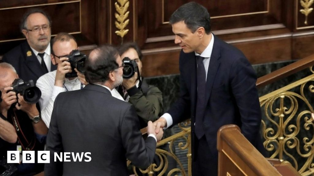 BBC News: Spanish PM Rajoy forced out of office