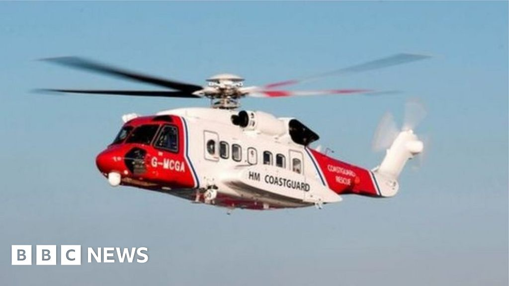Injured crewman in long-range coastguard helicopter rescue