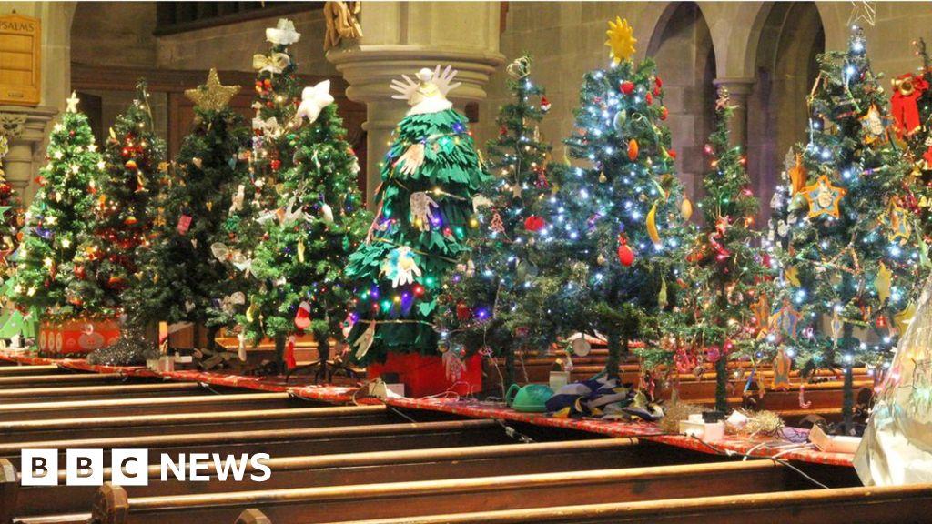Christmas Trees Light Up Churches For Noah's Ark Charity