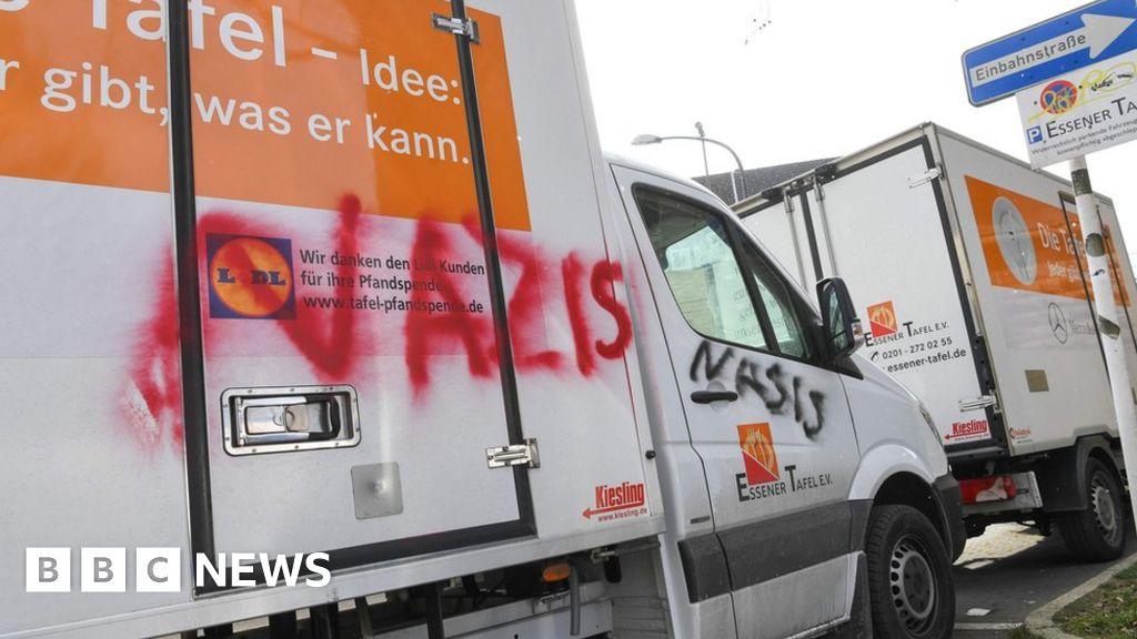 Chancellor Merkel Enters Germans Only Food Bank Furore