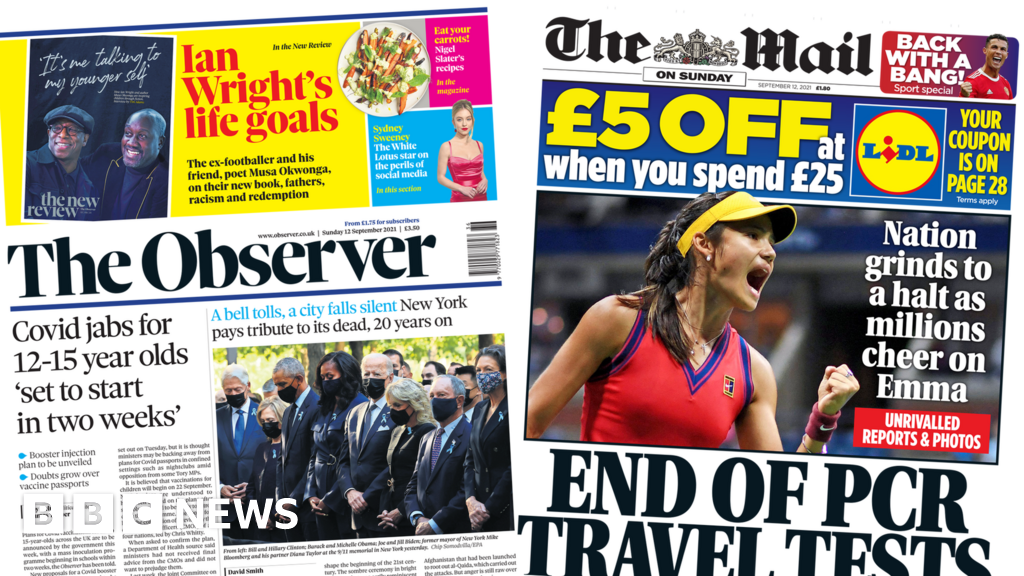 The Papers: Jabs at school in two weeks and travel tests axed thumbnail