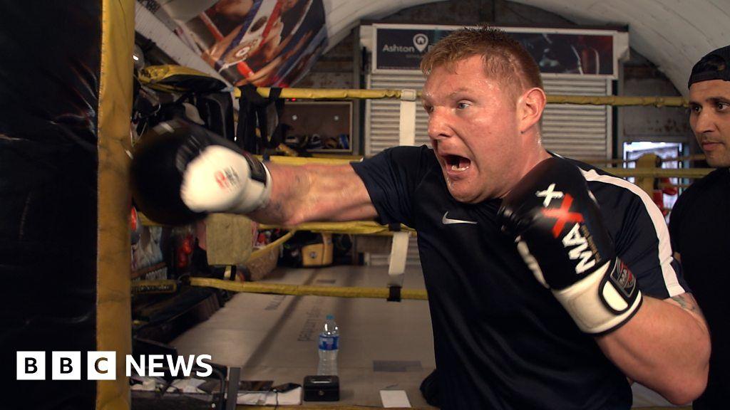 The blind veteran boxer