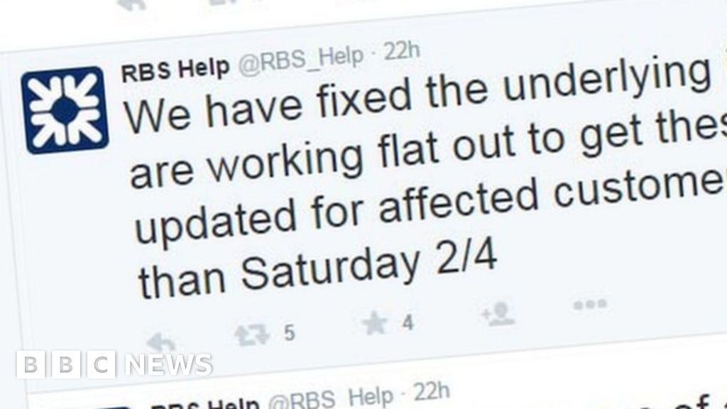 RBS payments failure \'unacceptable\' - BBC News