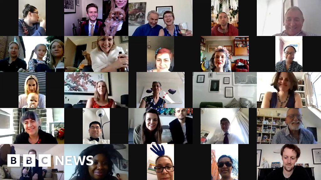 Doctors surprised with virtual wedding party thumbnail