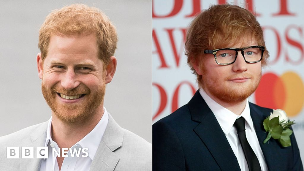 Ed Sheeran and Prince Harry in ginger confusion