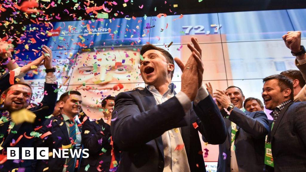 Ukrainian comic to be sworn in as president